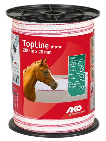 Rubans de clôture TopLine 20 mm