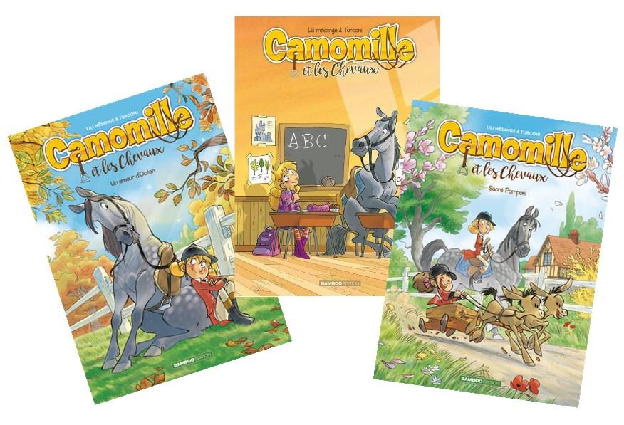 Bande dessinée Camomille et les chevaux