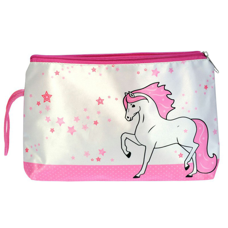 Trousse Satin Cheval White Star