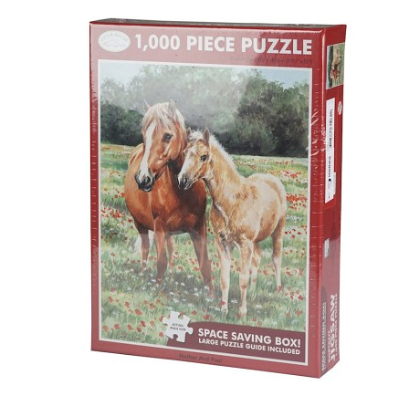 Puzzle 1000 pièces Jument et poulain