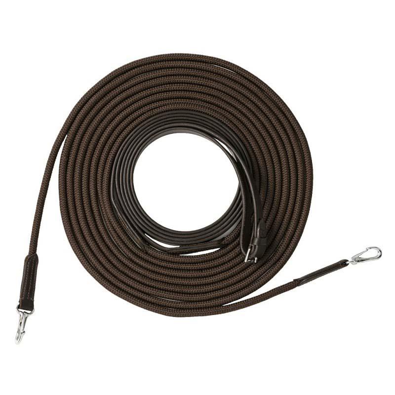 Longues rênes RIDING WORLD cuir et corde