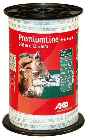Ruban de clôture PremiumLine 12,5 mm