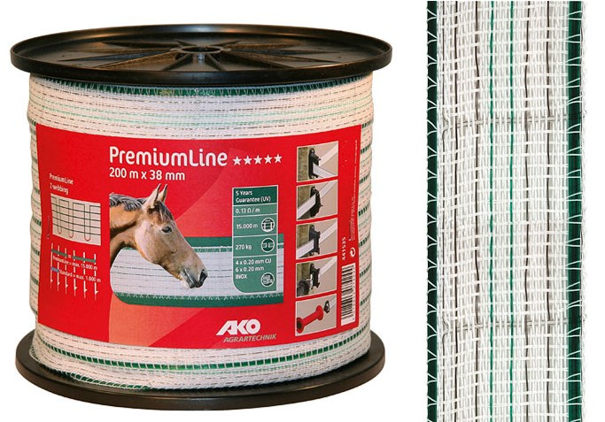 Ruban de clôture PremiumLine 38 mm