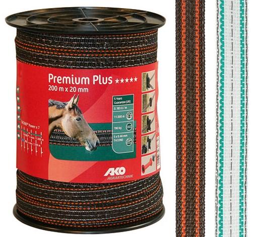 Ruban de clôture Premium Plus 20 mm