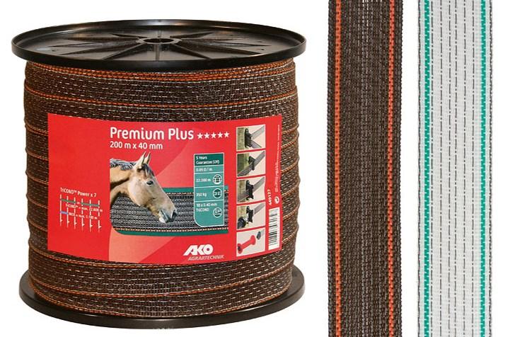 Ruban de clôture Premium Plus 40 mm