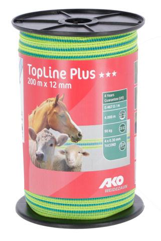 Ruban de clôture TopLine Plus Visibilité 12 mm