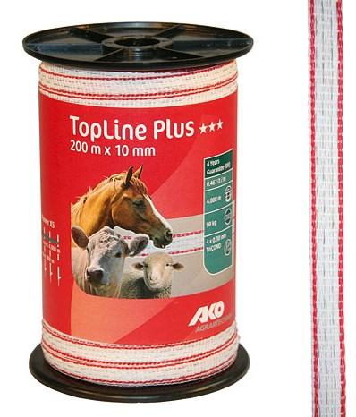 Ruban de clôture TopLine Plus Blanc 10 mm