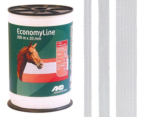 Ruban de clôture blanc EconomyLine