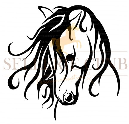 Sticker Cheval Arabesque
