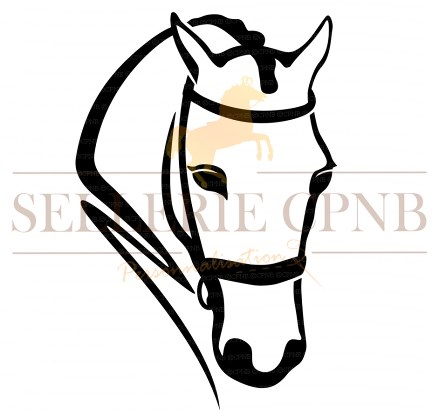 Sticker Cheval en bridon