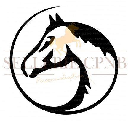 Sticker cheval graphique