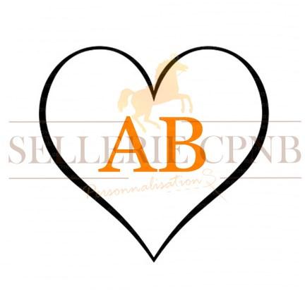 Sticker Coeur 2 initiales