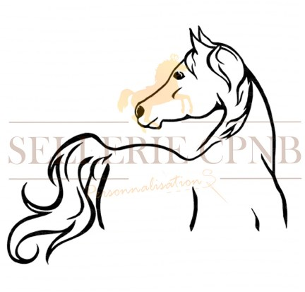 Sticker Cheval Silouhette