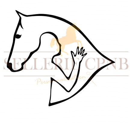 Sticker Homme et cheval