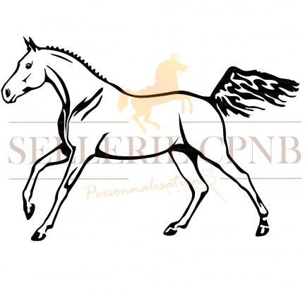 Sticker Cheval de sport
