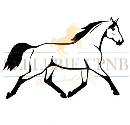 Sticker Cheval trot
