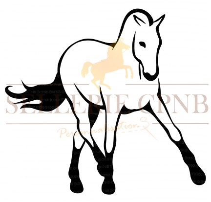 Sticker cheval appuyer