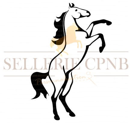 Sticker Cheval cabre