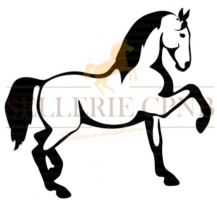 Sticker Cheval piaffe