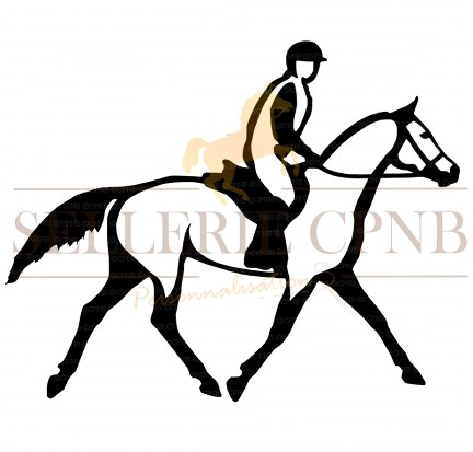 Sticker cavalier Endurance trot