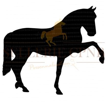 Sticker cheval pas espagnol