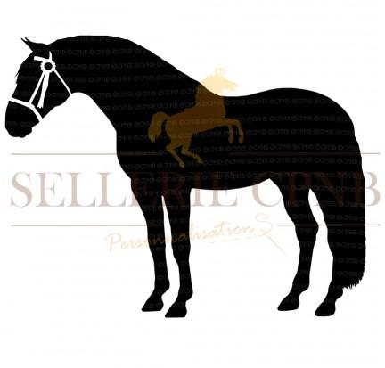 Sticker Cheval espagnol avec bridon