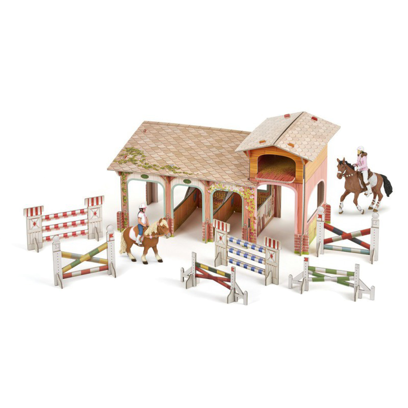 Poney club Papo avec 4 figurines