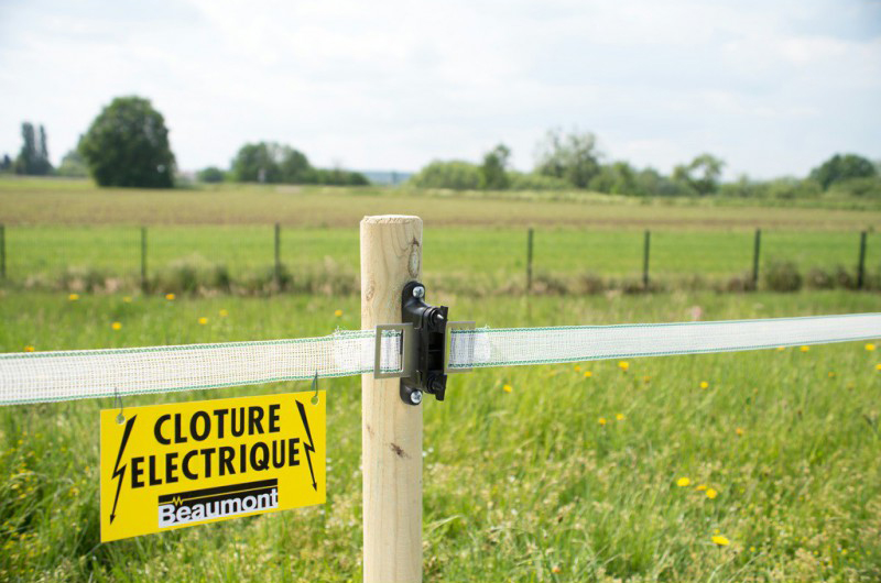 Plaquette de signalisation clôture x4