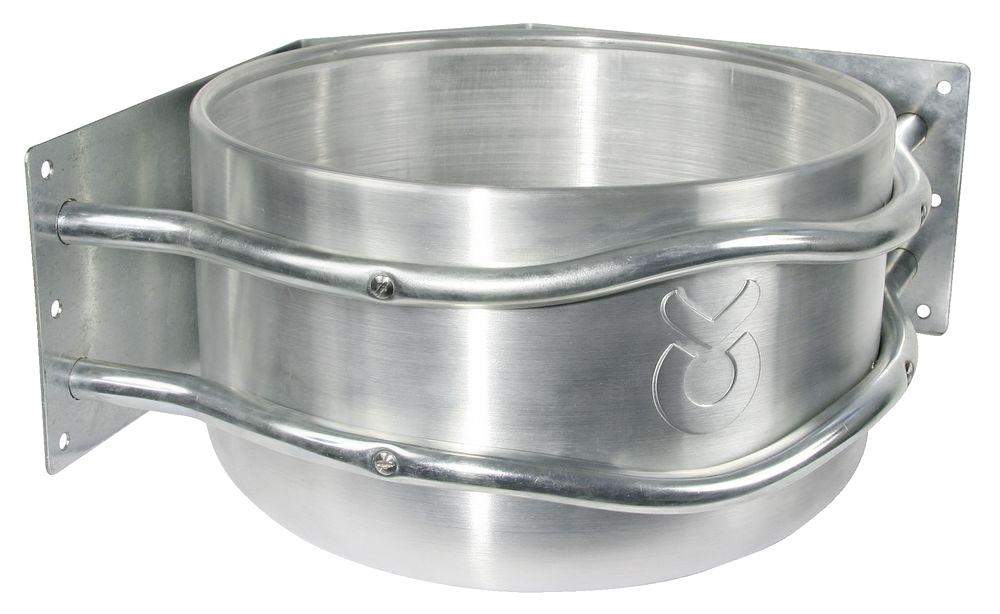 Mangeoire d\'angle ronde en aluminium