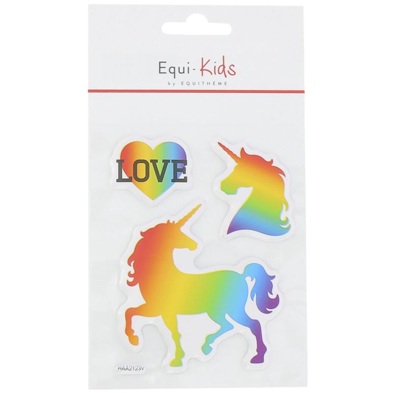 Stickers Equi-Kids Relief Licorne Love x5