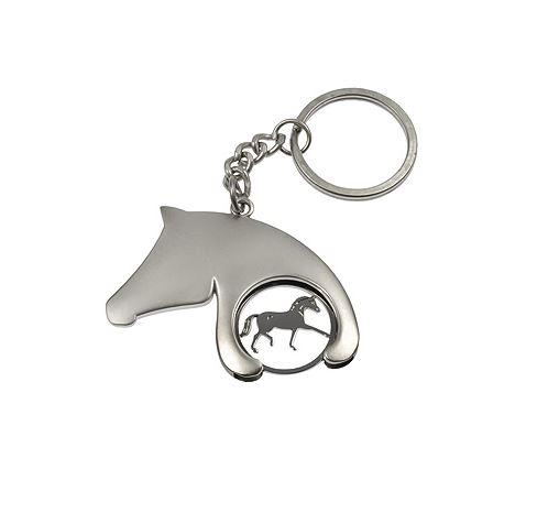 Porte clés jeton forme tête de cheval