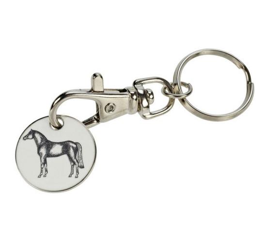 Porte-clés jeton cheval et fer