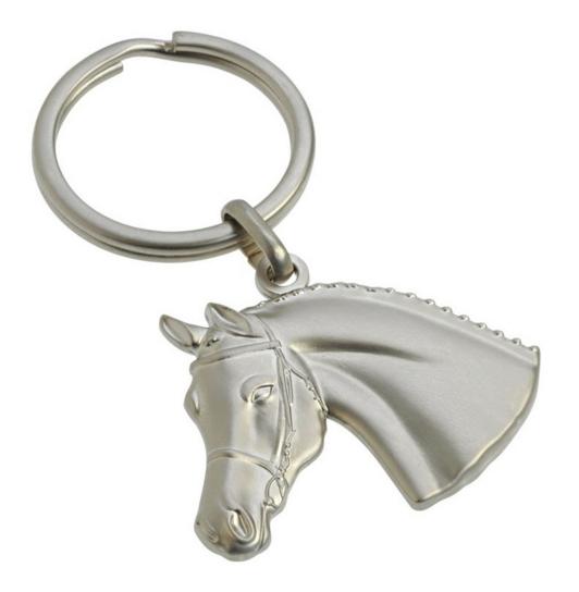 Porte-clés Tête de cheval avec bridon 3D