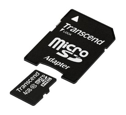 Carte mémoire microSD avec adaptateur pour Cambox Isis