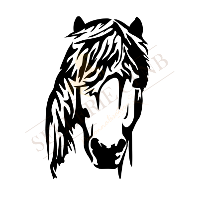 Sticker Tête de Poney
