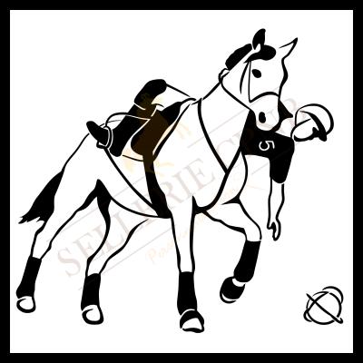 Sticker Horse ball