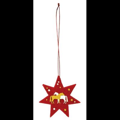 Décorations de Noël Chevaux en feutrine