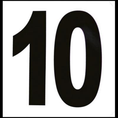 Set de 12 numéros d obstacles autocollants