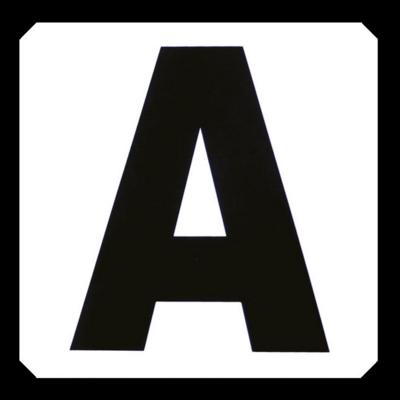 Set de12 lettres de manège autocollantes