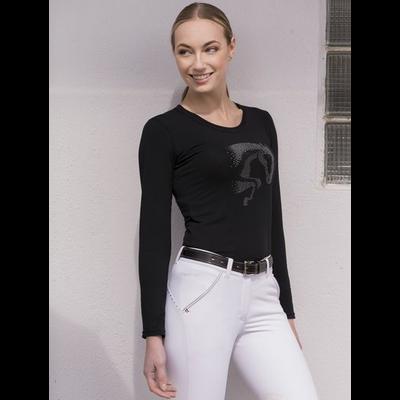 Tee-shirt EQUI-THÈME Jump Strass manches longues
