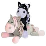 Peluche Pony Black and White Star