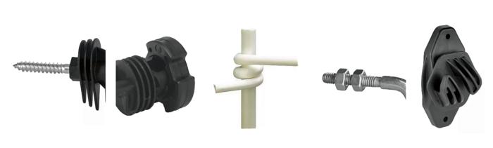 Fixation des Isolateurs de clôture électrique