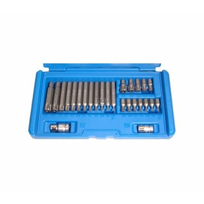 embouts torx perc 26pcs pour cliquet 3 8 1 2 outillage a main outillage. Black Bedroom Furniture Sets. Home Design Ideas
