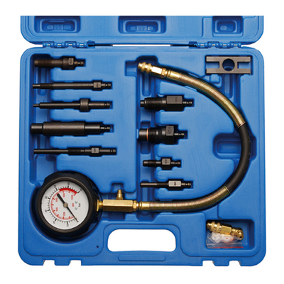 kit doutils de cylindre de testeur de compression de moteur /à essence de voiture automobile en m/étal EBTOOLS Kit de testeur de compression