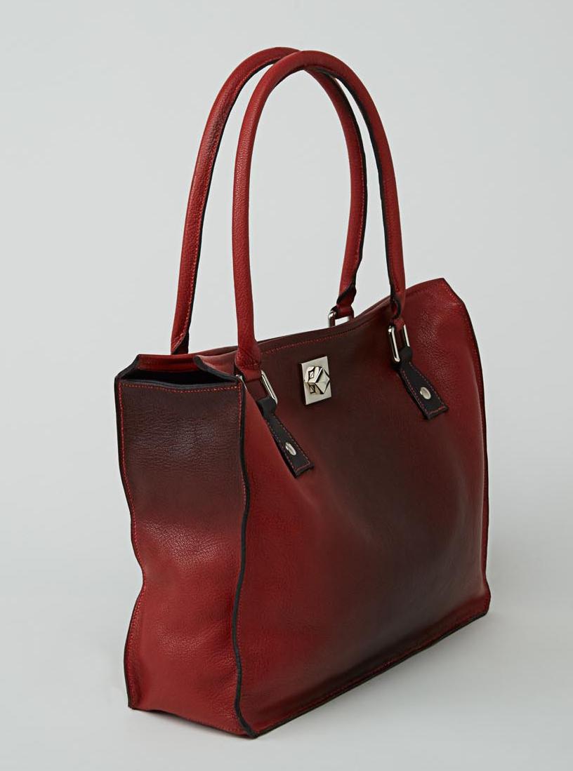 MELUNGTSE sac en cuir de veau foulonné tie and dye porté main ou épaule