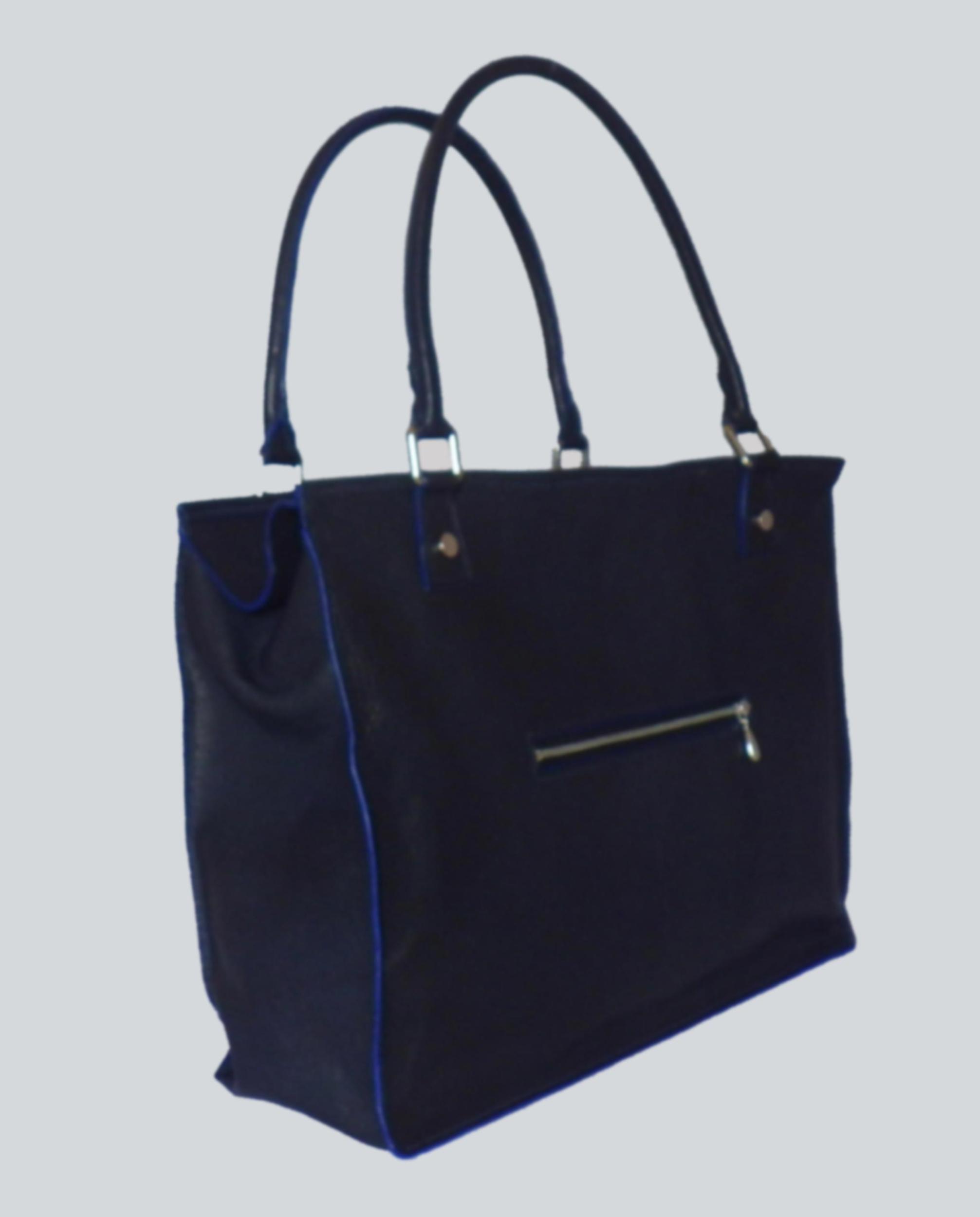 CHOLATSE sac en cuir de veau bleu cobalt porté main ou épaule