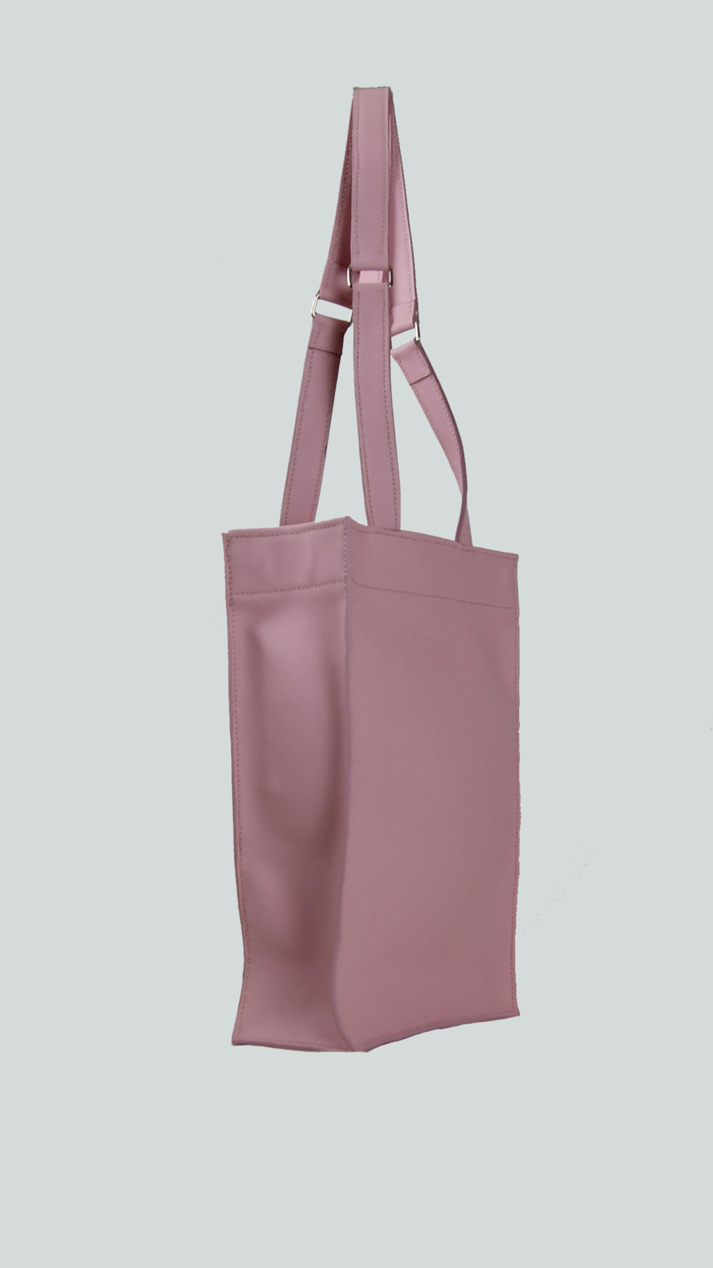 KAMET 2.0 sac shopping en cuir de veau rose