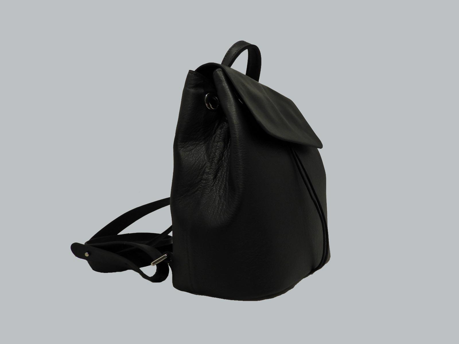 FUNDY sac à dos en cuir de veau noir
