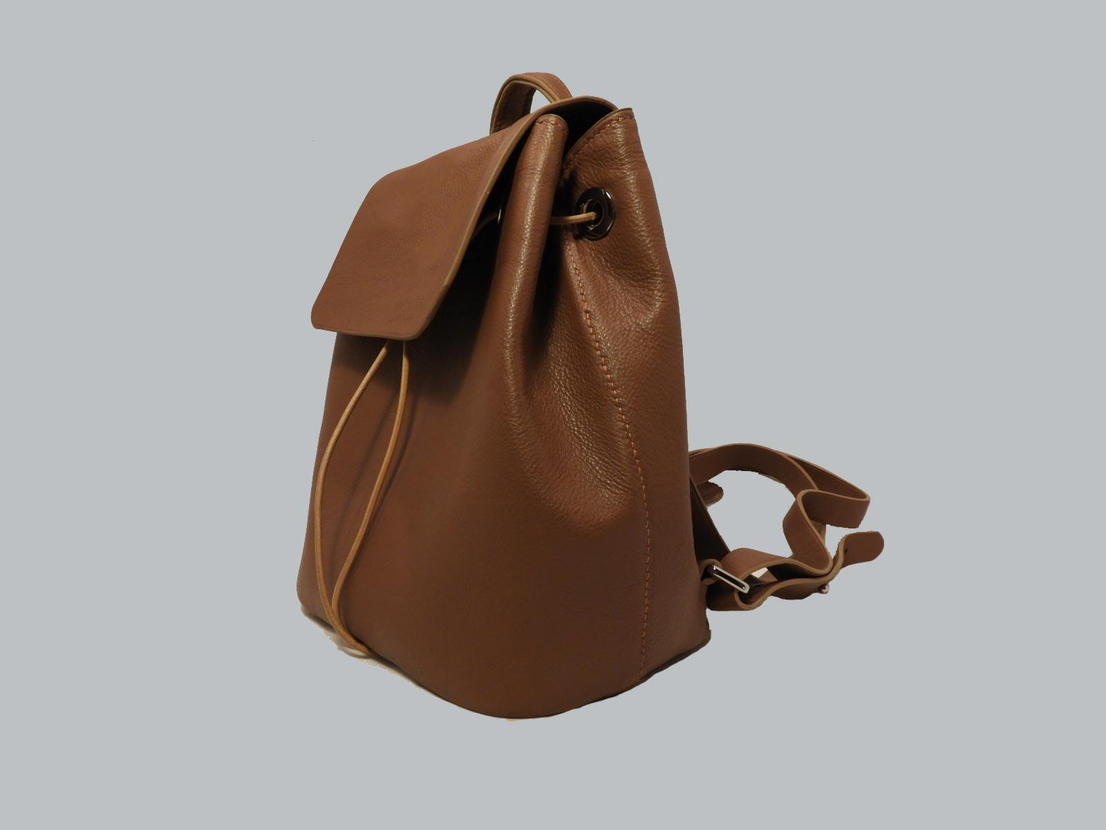 FUNDY sac à dos en cuir de veau fauve