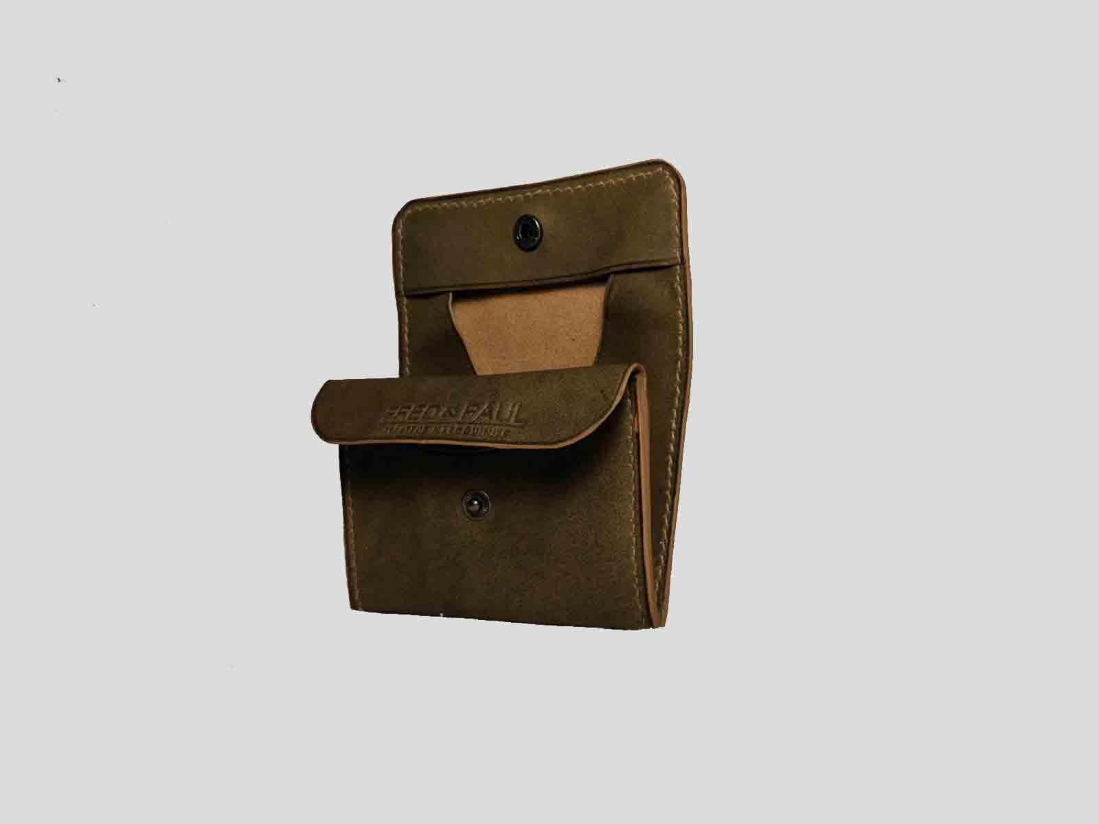 KULA KANGRI, porte monnaie en cuir de veau vintage